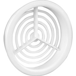 Single Round Soffit Vent White - 59214 - from Toolstation