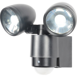 Zinc Sirocco LED PIR Spotlight IP44 2 x 3W 480lm - 59248 - from Toolstation