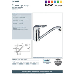 Deva Lace Mono Mixer Kitchen Tap