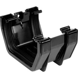 Aquaflow 114mm Square Line Union Bracket Black - 59386 - from Toolstation