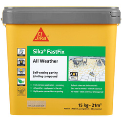 Sika Sika FastFix All Weather Jointing Compound Dark Buff 15kg - 59408 - from Toolstation