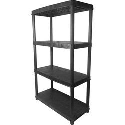 Lightweight Plastic Shelving Unit 4 Tier - 59429 - from Toolstation