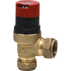 Honeywell Angled Automatic Bypass Valve 22mm