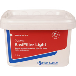 Gyproc Gyproc Easifiller Light Ready Mixed Filler 2.5L - 59580 - from Toolstation