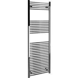 Kudox Kudox Chrome Flat Ladder Towel Radiator 1800 x 600mm 2037Btu - 59581 - from Toolstation