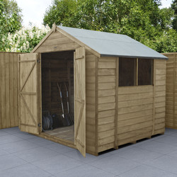 Forest Forest Garden Overlap Pressure Treated Shed - Double Door 7' x 7' - 59591 - from Toolstation