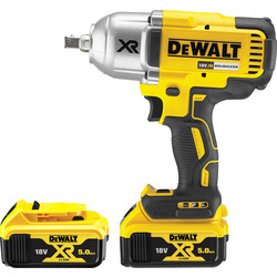 DeWalt DeWalt DCF899 18V XR Brushless High Torque Impact Wrench 2 x 5.0Ah - 59593 - from Toolstation