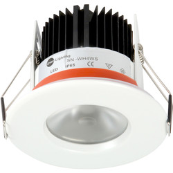 D-Lux LED D-Lux LED IP65 4.65W Fire Rated Downlight White 477lm - 59642 - from Toolstation