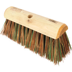 "Hill Brush Company Stiff Yard Broom Head Sherbo / Green Polyprop 12"" - 59678 - from Toolstation"