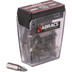 Abracs Abracs S2 Screwdriver Bits PZ2 - 59681 - from Toolstation