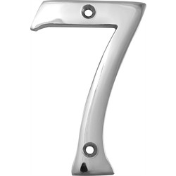 Chrome Numeral 75mm 7 - 59753 - from Toolstation