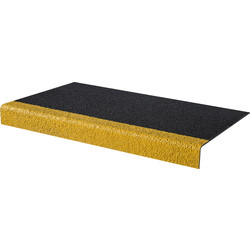 Blue Diamond Anti Slip Stair Treads 55 x 345mm x 1m Black/Yellow - 59756 - from Toolstation