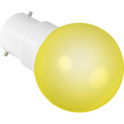 Sylvania Sylvania LED 0.5W Ball Lamp BC (B22d) Yellow 22lm - 59855 - from Toolstation