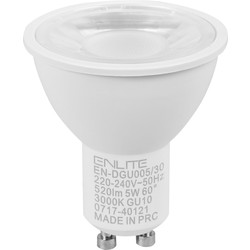 Enlite Enlite ICE LED 5W GU10 Dimmable Lamp Cool White 520lm - 59895 - from Toolstation