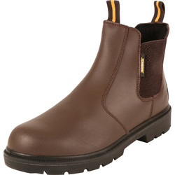 Maverick Safety Maverick Slider Safety Dealer Boots Brown Size 8 - 60119 - from Toolstation
