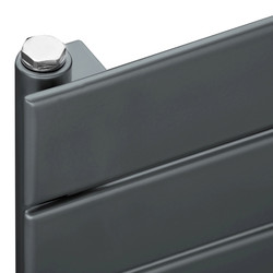Ximax Ximax Oxford Single Horizontal Designer Radiator 595 x 600mm 1410Btu Anthracite - 60122 - from Toolstation