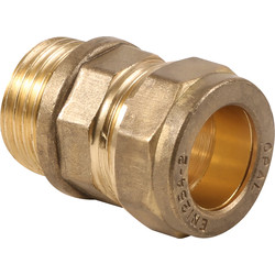 "Made4Trade Made4Trade Compression Coupler Male 22mm x 3/4"" - 60156 - from Toolstation"