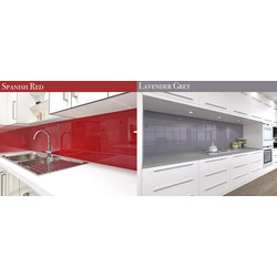 AluSplash AluSplash Splashback 800 x 600mm Spanish Red/Lavender Grey - 60166 - from Toolstation