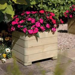 Rowlinson Rowlinson Marberry Square Planter 39cm (h) x 50cm (w) x 50cm (d) - 60201 - from Toolstation