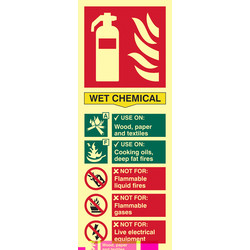 Photoluminescent Fire Extinguisher Sign Wet Chemical - 60209 - from Toolstation