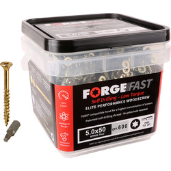 ForgeFast ForgeFast Multi Purpose Self Drilling Wood Screw Tub 5.0 x 80mm - 60213 - from Toolstation