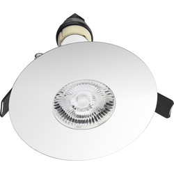 Integral LED Integral LED 70-100mm Cut Out Evofire IP65 Fire Rated Downlight Chrome - 60323 - from Toolstation