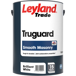 Leyland Trade Leyland Trade Truguard Smooth Masonry Paint 5L Brilliant White - 60438 - from Toolstation