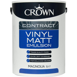 Crown Contract Crown Contract Vinyl Matt Emulsion Paint 5L Magnolia - 60492 - from Toolstation