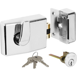 Roller Bolt Nightlatch Chrome Standard
