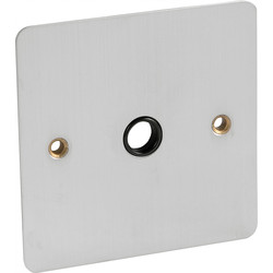 Flat Plate Satin Chrome 20A Flex Outlet Plate  - 60520 - from Toolstation