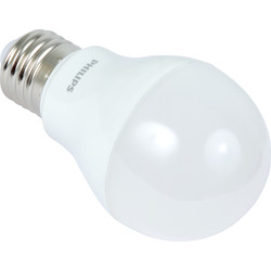 Philips LED Dimmable A Shape Lamp 6W ES 470lm Clear A+