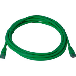 3.0m CAT5E UTP Patch Lead Green - 60580 - from Toolstation