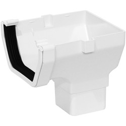 Aquaflow Square Line Stop End Outlet White - 60616 - from Toolstation