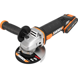 Worx Worx WX800 20V MAX Li-Ion 115mm Cordless Angle Grinder 2 x 2.0Ah - 60712 - from Toolstation