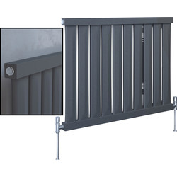 Kudox Kudox Elmas Anthracite Designer Radiator 600 x 810mm 1911Btu - 60723 - from Toolstation