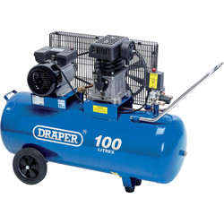 Draper Draper 100L 2200W Belt-Driven Air Compressor 230V - 60780 - from Toolstation