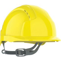 JSP JSP EVOLite® Slip Ratchet Vented Safety Helmet Yellow - 60835 - from Toolstation