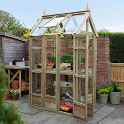 Forest Forest Garden Victorian Walkaround Greenhouse With Auto Vent 228cm (h) x 96cm (w) x 126cm (d) - 60938 - from Toolstation