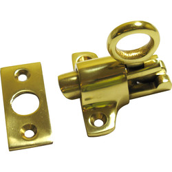 Fanlight Catch Polished Brass - 61031 - from Toolstation