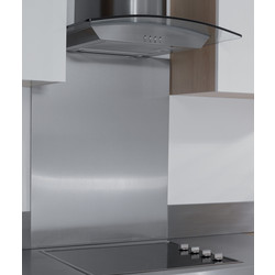 Hafele Hafele Stainless Steel Splashback 750 x 599mm - 61035 - from Toolstation