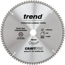 Craft Trend Craft Circular Saw Blade 305 x 84T x 30mm CSB/AP30584 - 61187 - from Toolstation