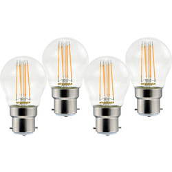 Sylvania Sylvania LED RT Filament Mini Globe Lamp 4.5W BC (B22) 470lm - 61245 - from Toolstation