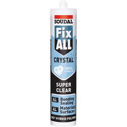 Soudal Fix All Crystal Adhesive & Sealant 290ml Clear