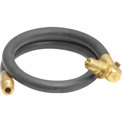Gas Bayonet Cooker Hose 3ft NG Angled - 61270 - from Toolstation