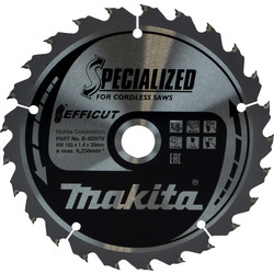Makita Makita Efficut TCT Saw Blade 165 x 20 x 25T - 61275 - from Toolstation