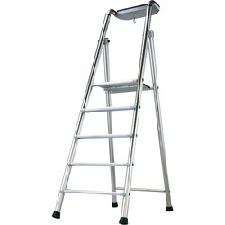 TB Davies TB Davies Pro Probat Platform Step Ladder 5 Tread SWH 2.8m - 61343 - from Toolstation