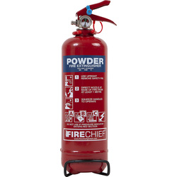 Fire Chief Firechief Dry Powder Fire Extinguisher 1kg Rating 8A 34B C - 61435 - from Toolstation