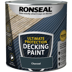 Ronseal Ronseal Ultimate Protection Decking Paint 2.5L Charcoal - 61525 - from Toolstation