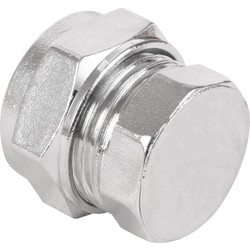 Made4Trade Made4Trade Compression Stop End Chrome Plated 15mm - 61563 - from Toolstation
