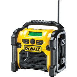 DeWalt DeWalt  DCR020-GB 18V XR Compact Digital DAB Radio 240V/14.4V/18V - 61620 - from Toolstation